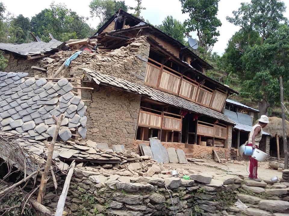 Gopal's House in Darkha, now uninhabitable.