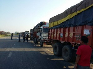 Gopal was able to join the convoy of a friendly aid organization for part of the journey to Dhading.